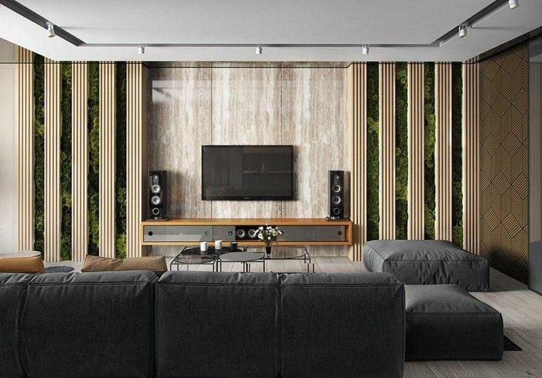 Azulejos travertino 75 ideas de para suelos y paredes - Azulejos decorativos para salones ...