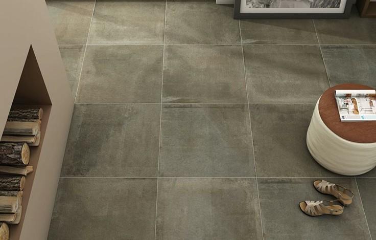 Azulejos grises para suelos y paredes 50 modelos for Suelos de ceramica rusticos