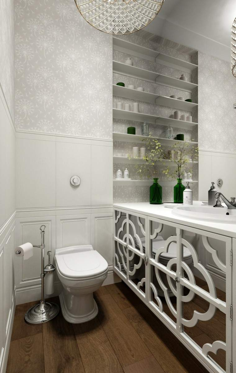 banco madera colores blanco cristales fresco