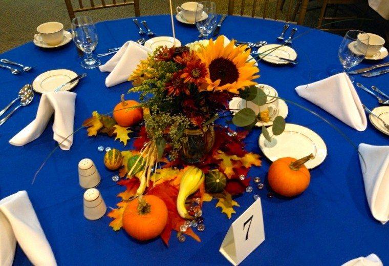 banquete detalles servilleta tenedores azul