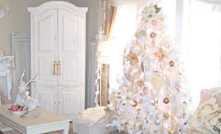 blanca navidad decoración lujosa