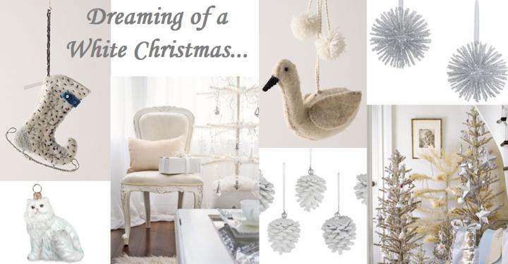 blanca navidad adornos estilo retro