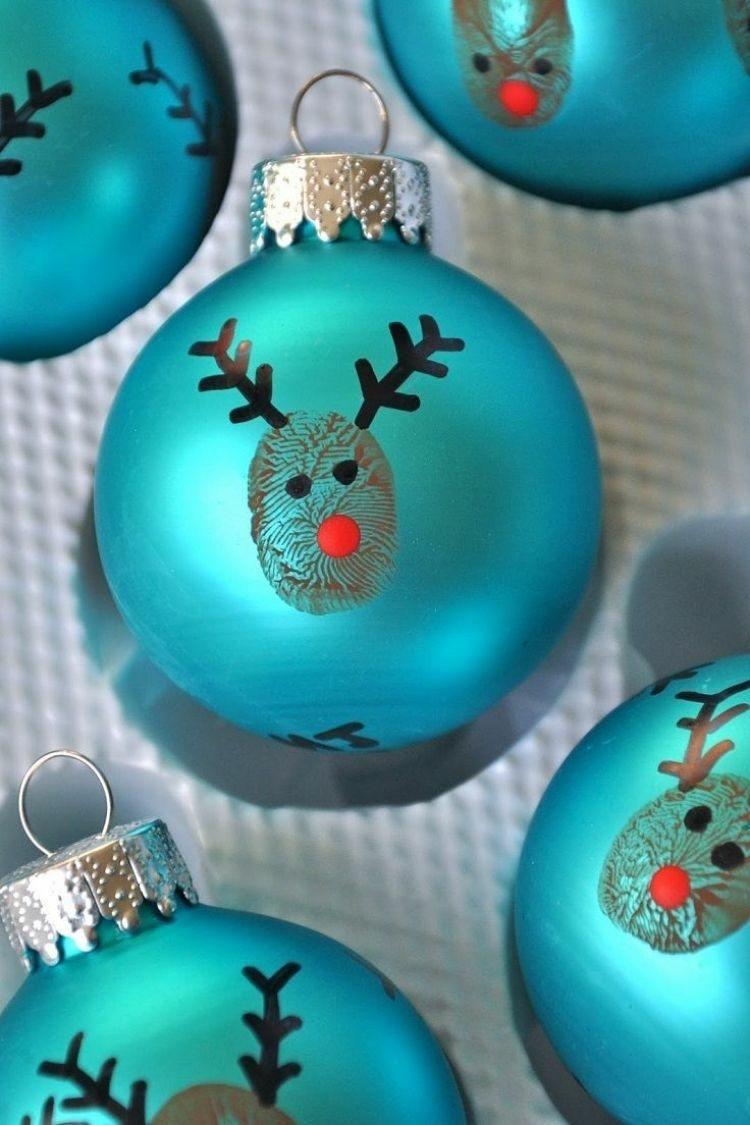 bola navidad renos pintados ojos