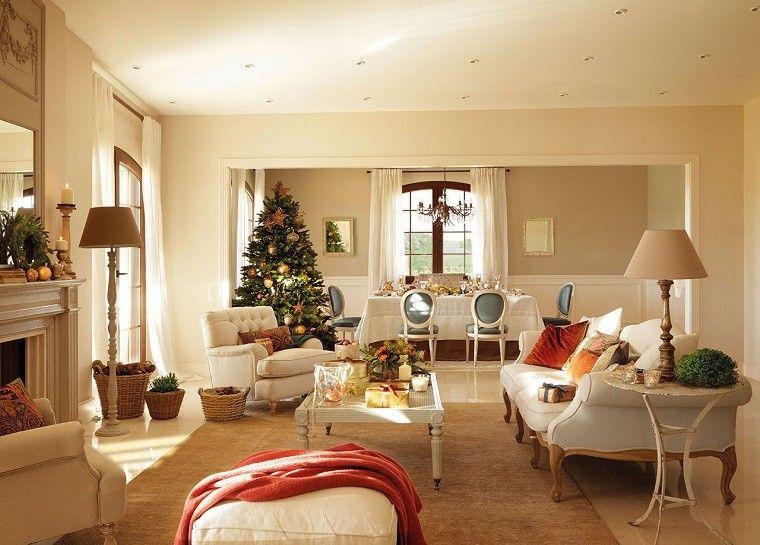 bolas oro arbol navidad adornos elegantes casa navidad ideas