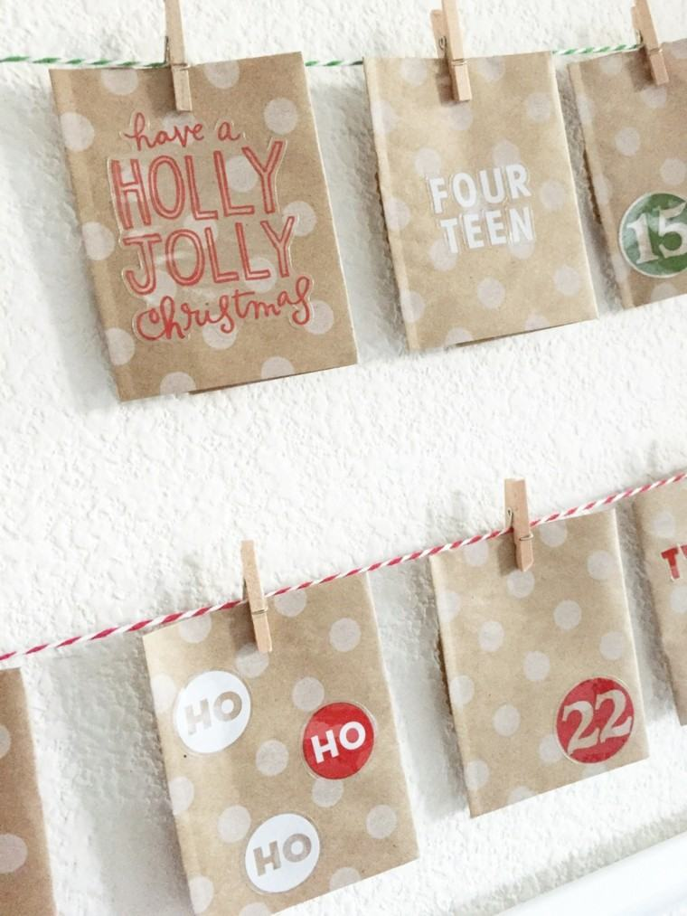 bolsas papel calendarios adviento numeros