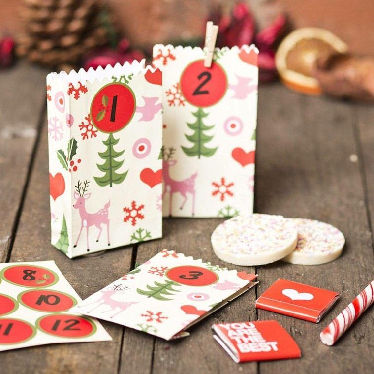 bolsitas papel calendario adviento navidad