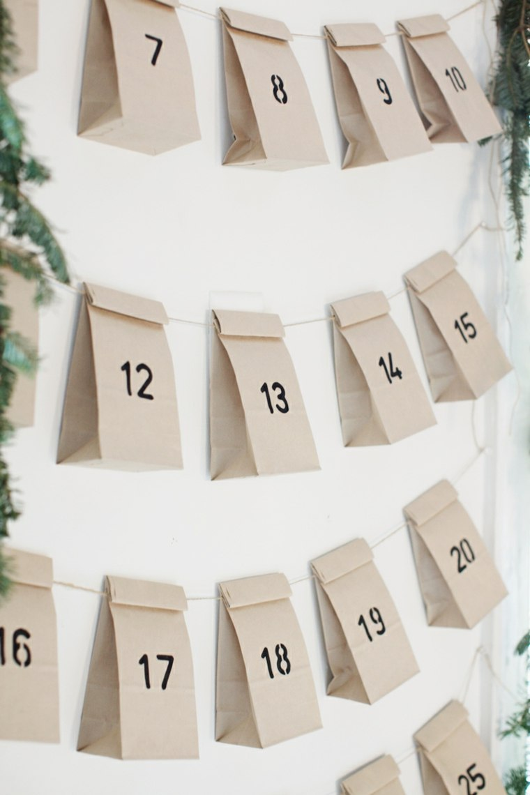 bolsitas papel pared numeros calendario
