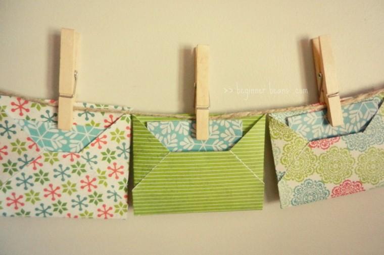 bolsitas papel pinzas ropa colores