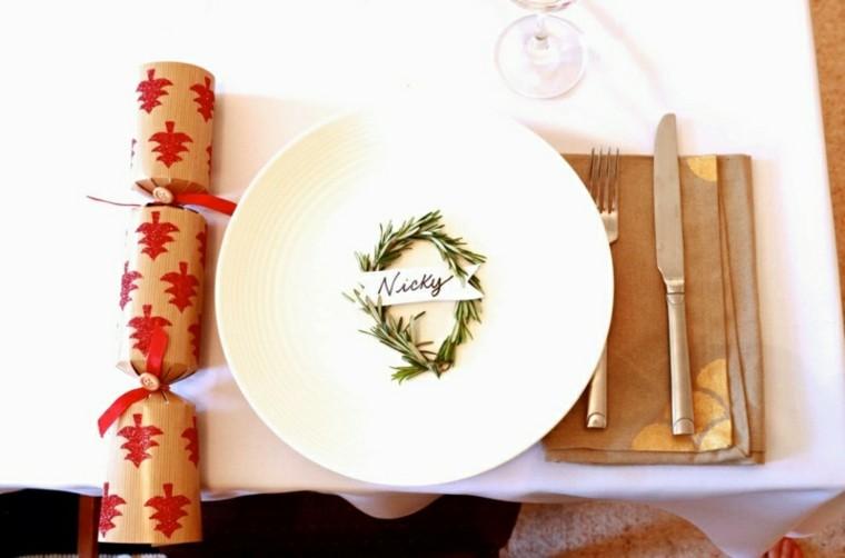 bonita decoración plato cenas de navidad