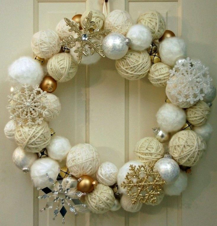 bonita corona adviento navidad beige