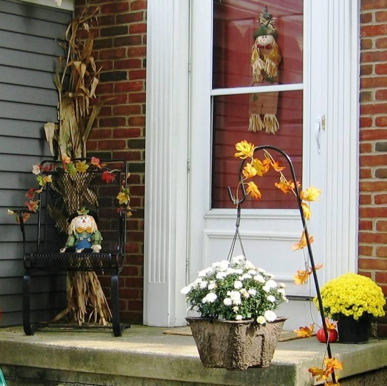 bonita decoración flores otoño