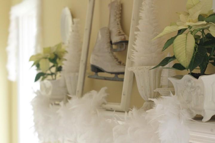 bonita decoración navidades blanca
