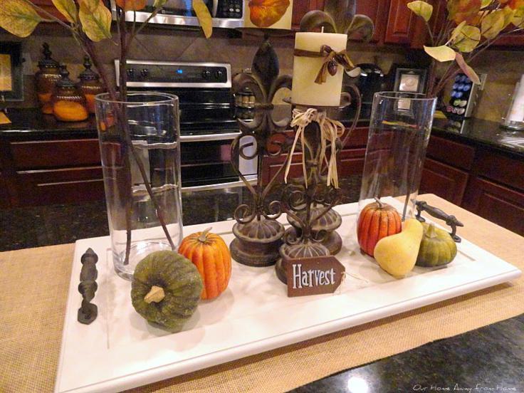 calabazas decorativas mesa otoño