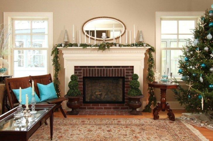 bonita decoración salon navidad