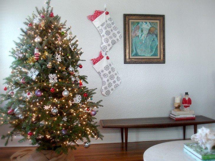 bonita decoración arboles navidad