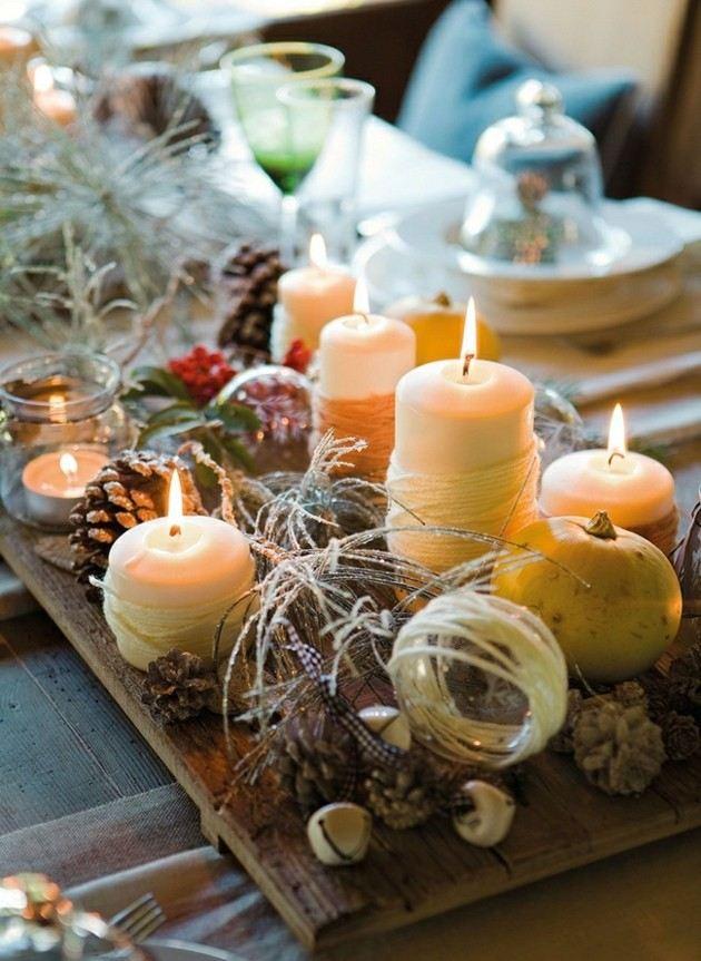 bonita decoración mesa navidad