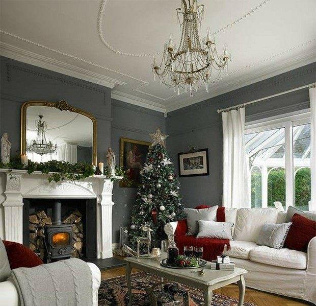 Rojo y gris para la decoraci n navide a de este a o - Decoracion en gris ...