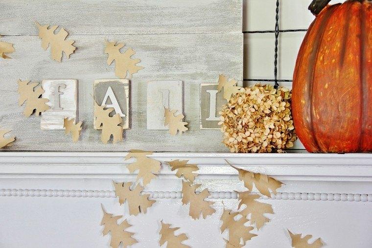 bonita decoración hojas secas