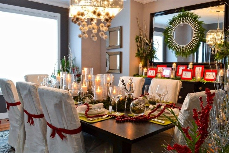 bonita mesa navidad diseño escandinavo