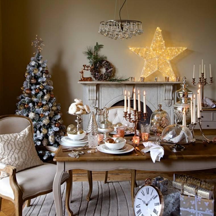 bonita mesa decoración estilo retro
