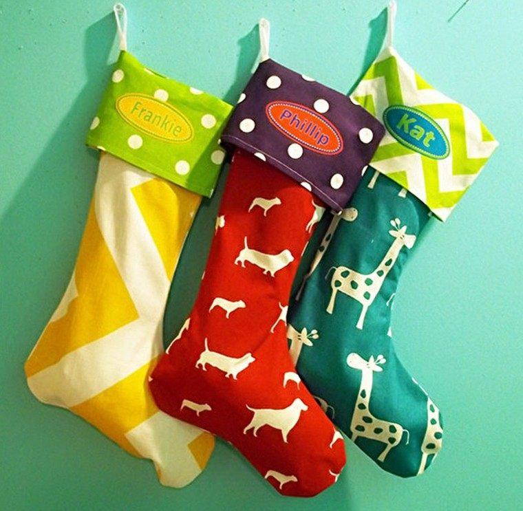 bonitas medias navidad tres colores