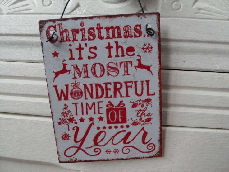 bonito cartel navideño letras rojas