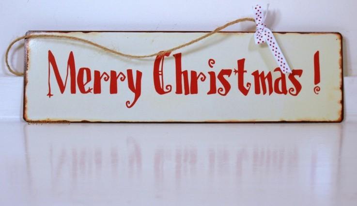 bonito cartel navideño retro blanco