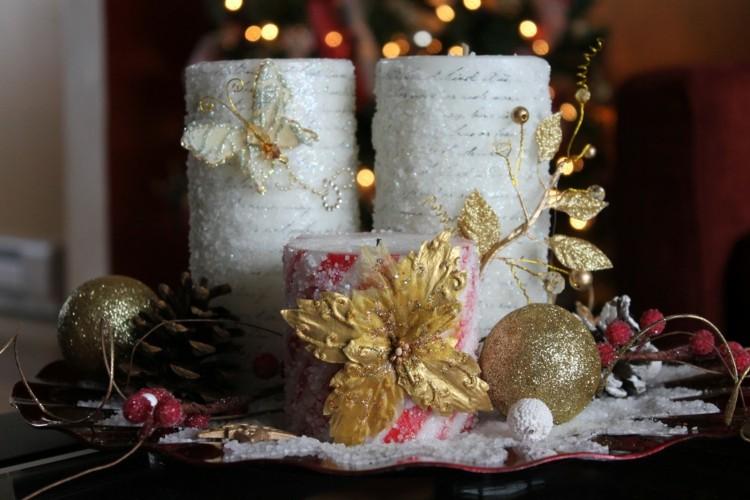 bonito centro flor dorada velas