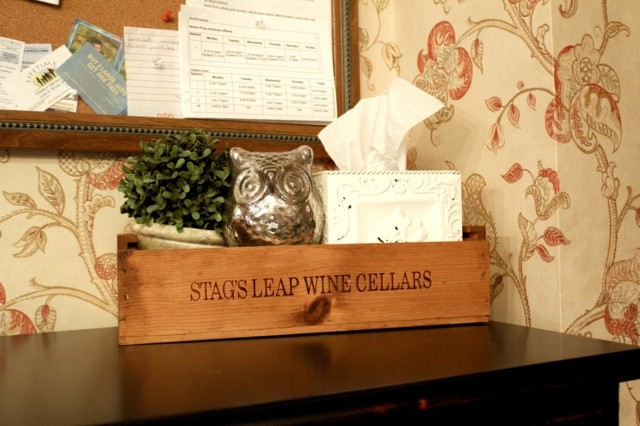 bonito diseño caja madera adornos