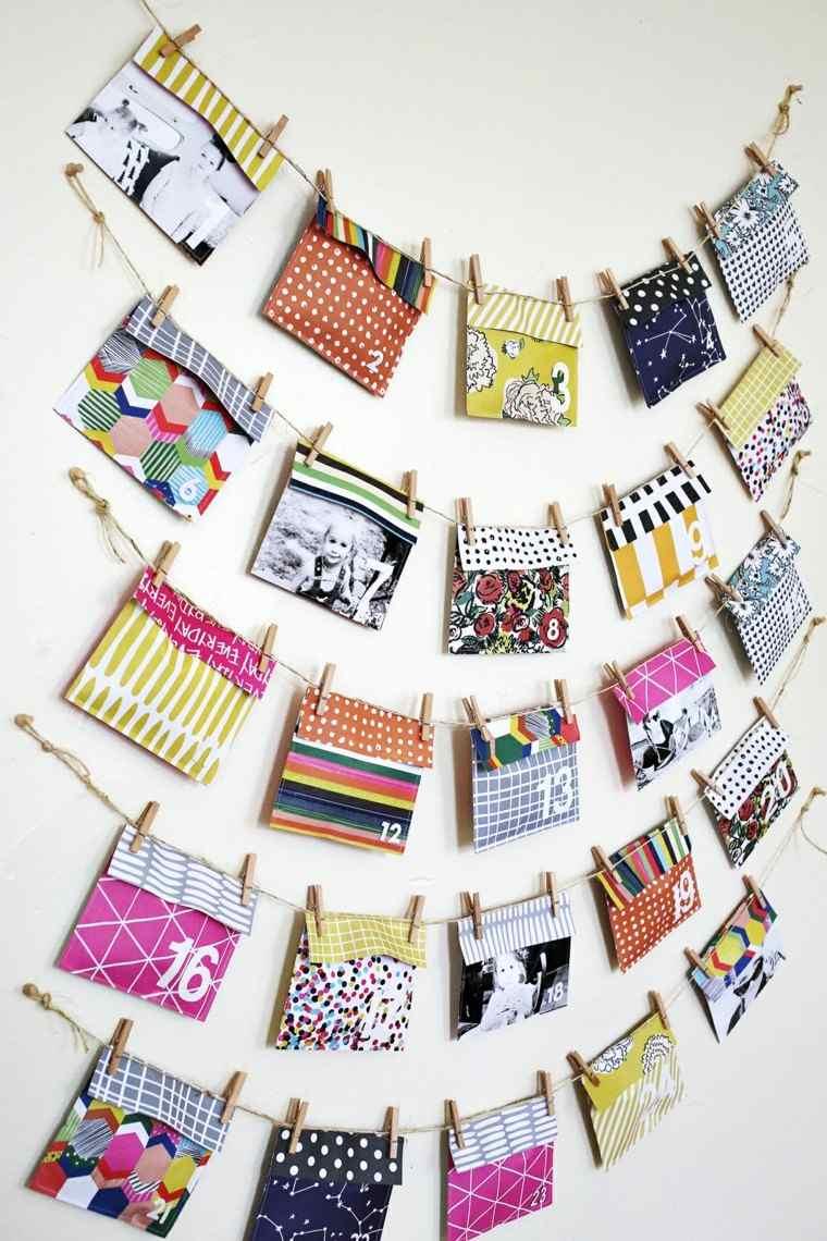 bonitos diseños bolsitas papel calendario