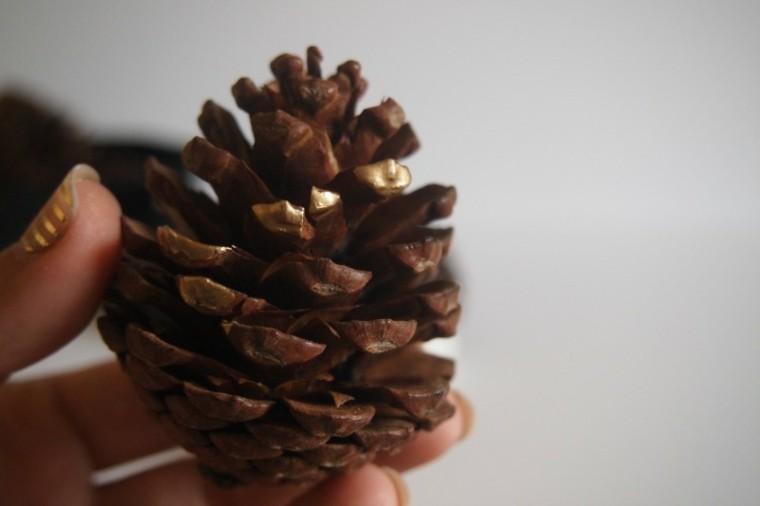 bricolage decoraciones navideñas oro precioso ideas