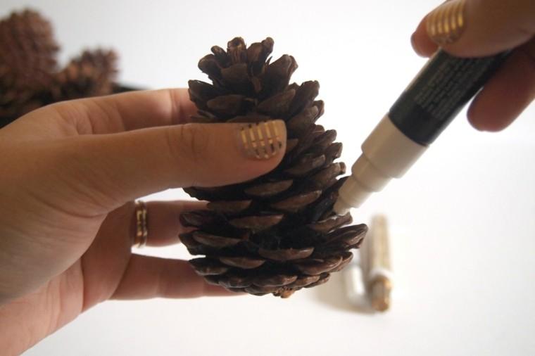 bricolage decoraciones navideñas pinas pino ideas