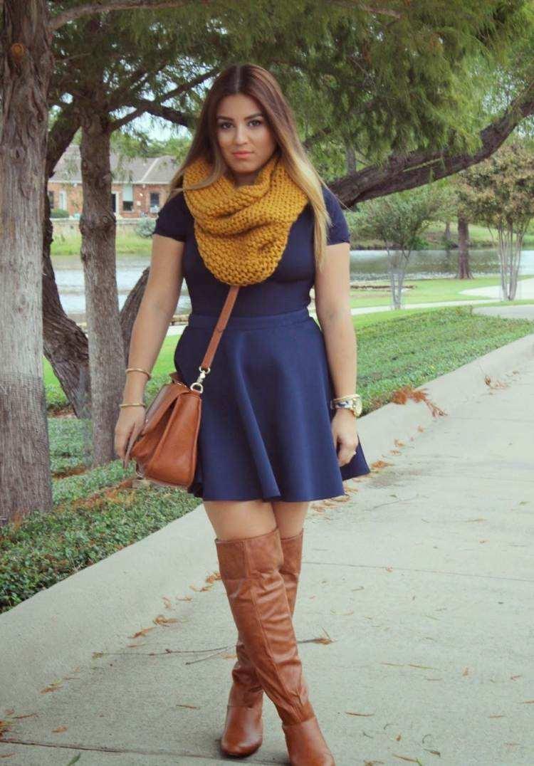 bufanda otono caliente botas bolsa cuero ideas
