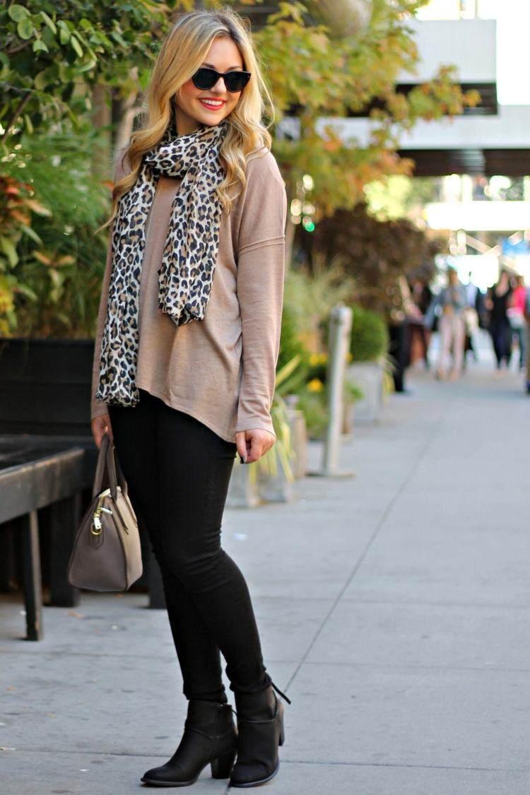 bufanda otono caliente  estampa leopardo i deas