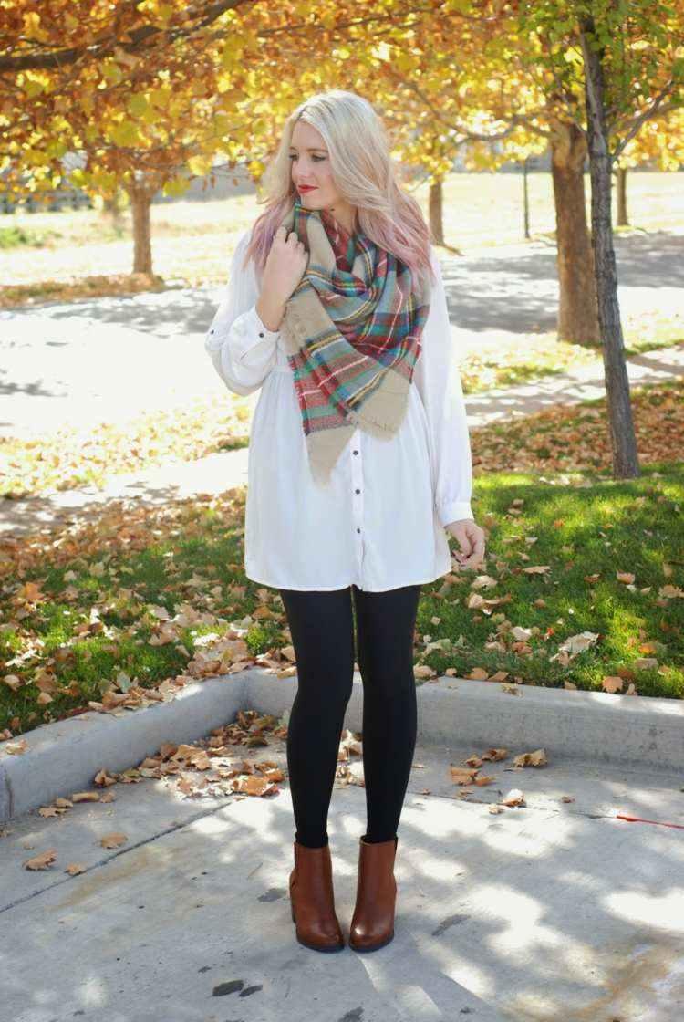 bufandas otono caliente grande rojo beige ideas