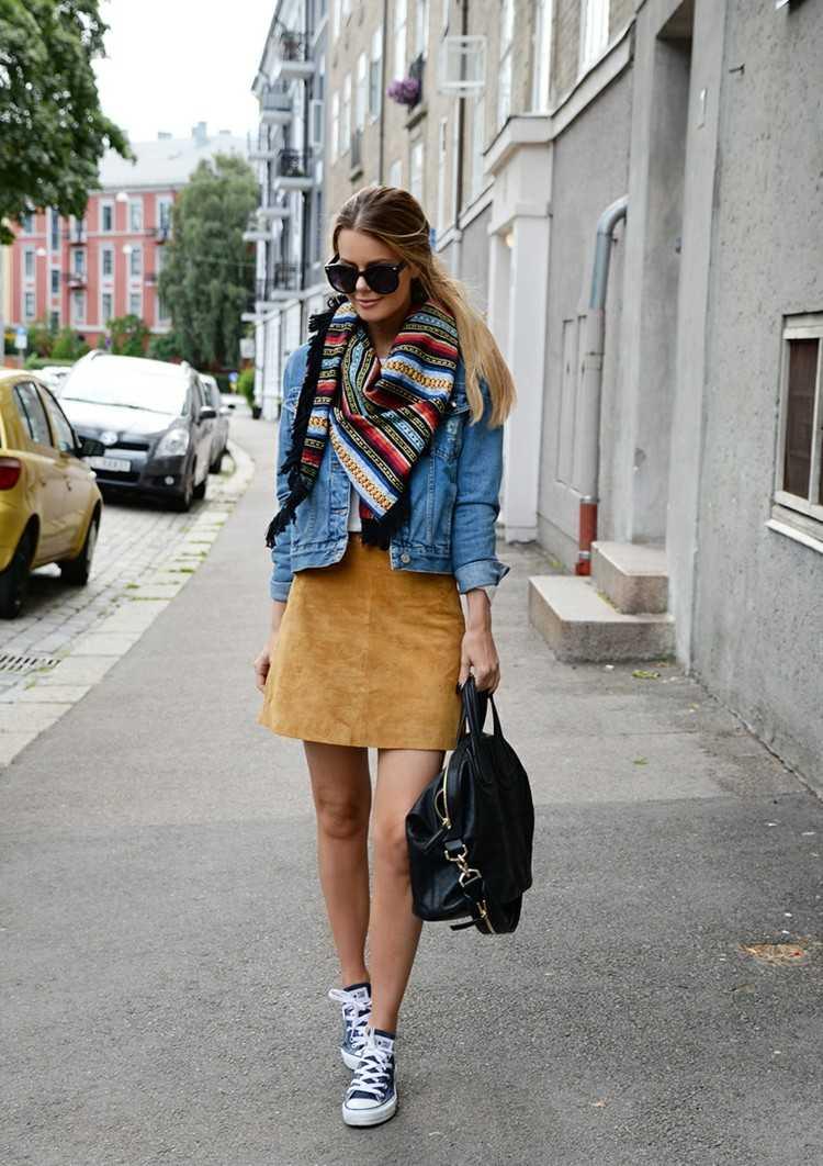 bufandas otono caliente rayas colores ideas