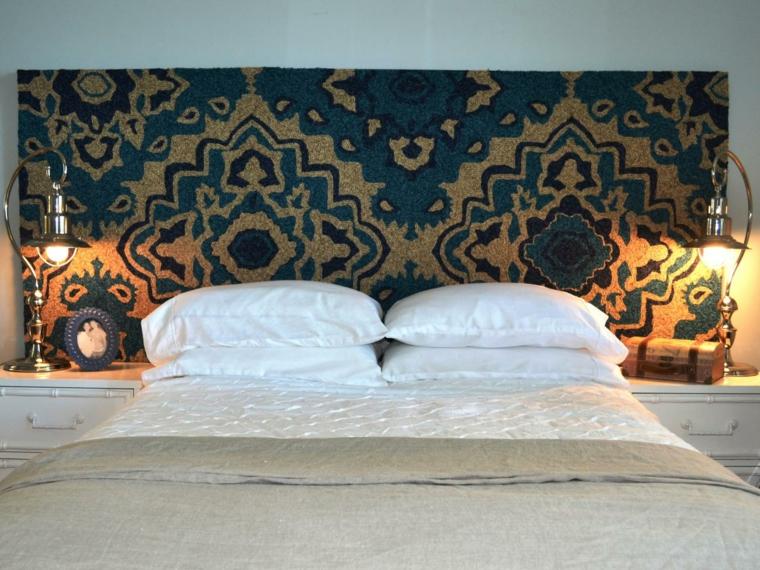 cabecero alfombra diseño calido acogedor
