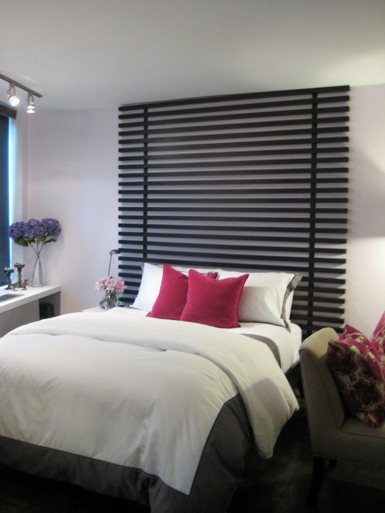 cabeceros de cama diseño flores tejidos tablas
