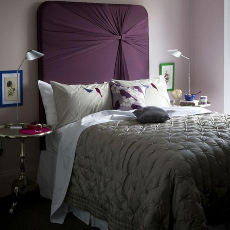 cabeceros de cama diseño lampara regulable forrado