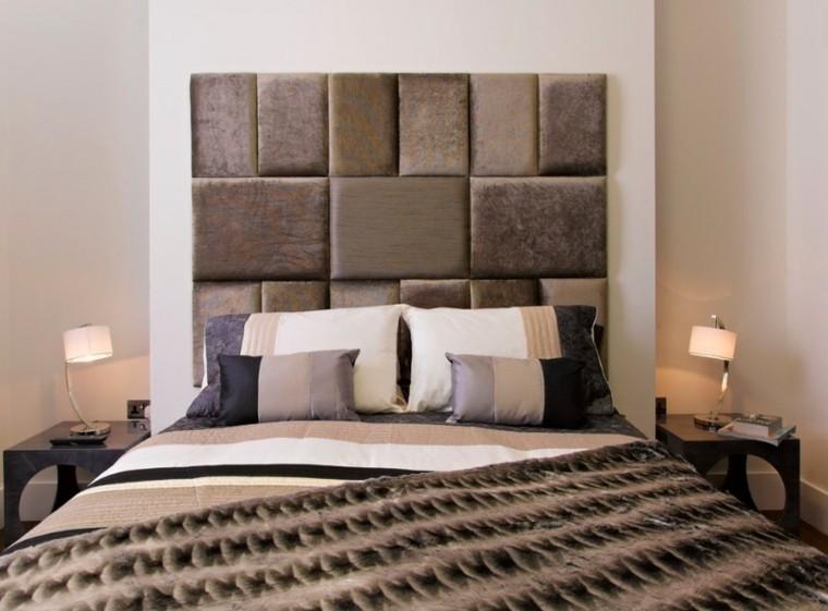 cabeceros de cama diseño variado calido lamparas