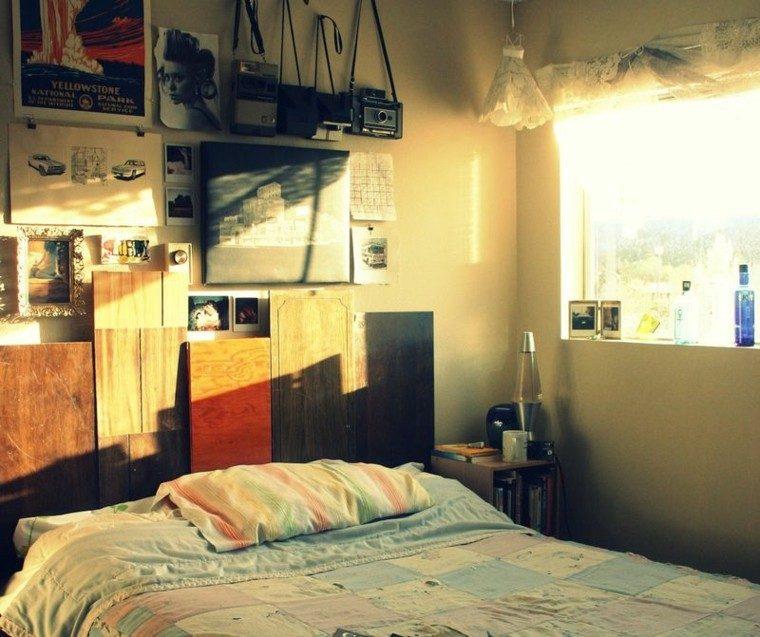 cabeceros de cama diseño variado camaras antiguas