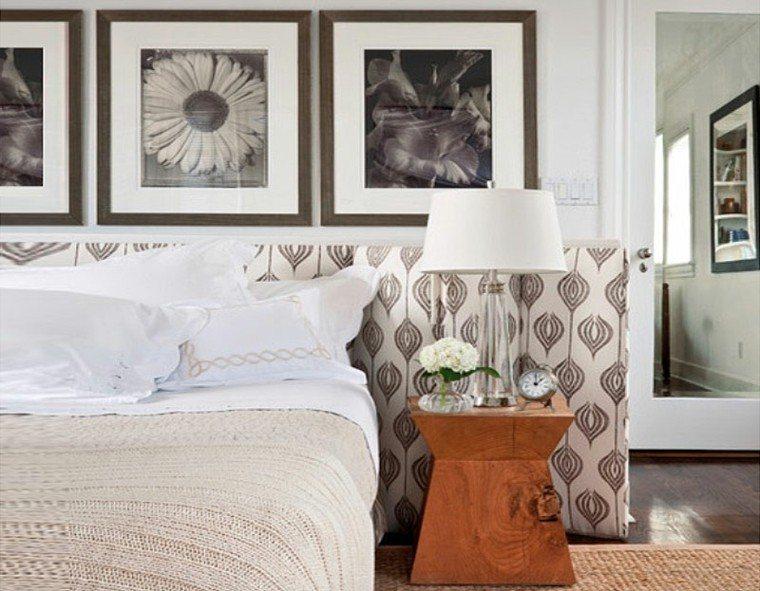 cabeceros de cama diseño variado cuadros flores