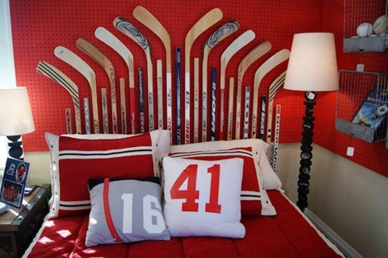 cabeceros de cama diseño variado deporte numeros
