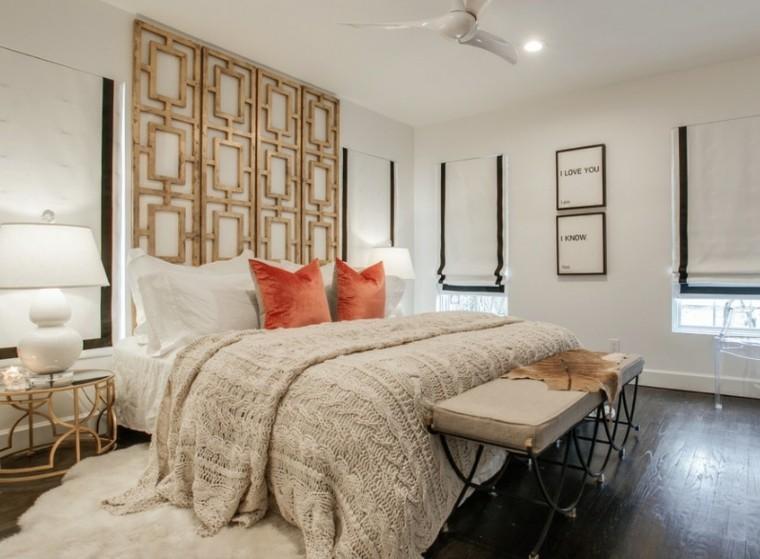 cabeceros de cama diseño variado lampara ventilador