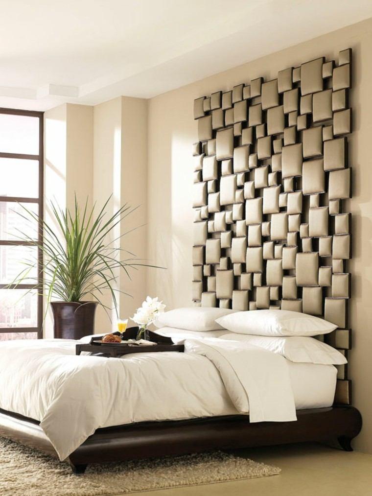 cabeceros de cama diseño variado natural plantas