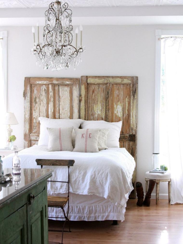 cabeceros de cama diseño variado vintage lamparas