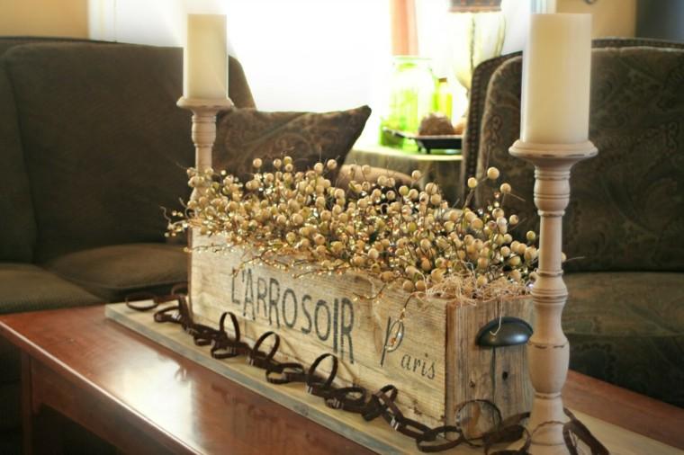 mesas de centro detalle decorado velas