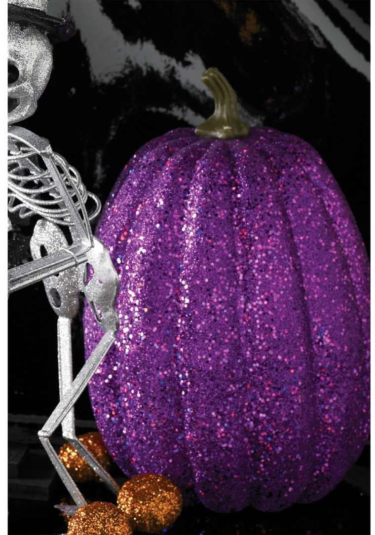calabaza morada cubierta purpurina