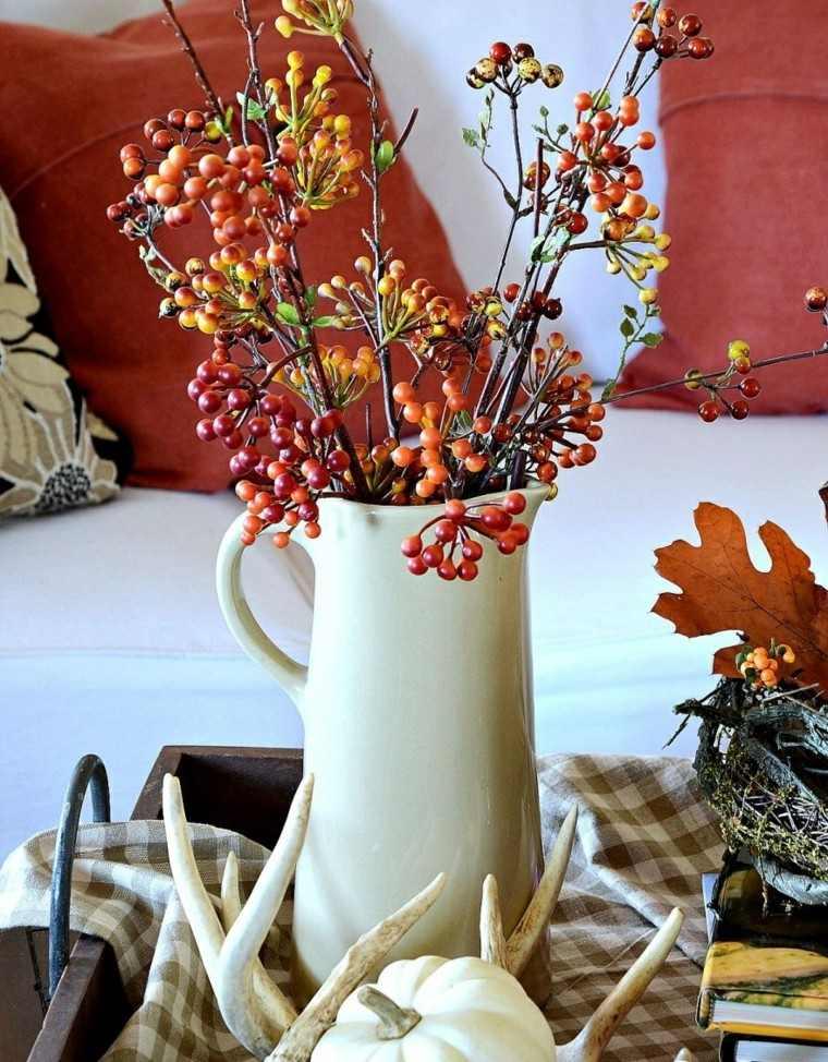 calabaza recetas decora casa otono centro mesa jarron blanco ideas