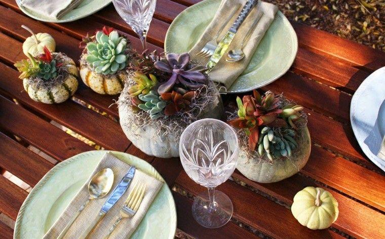 calabaza recetas decora casa otono centro mesa macetas moderno